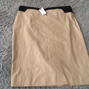 Tan skirt from The Limited